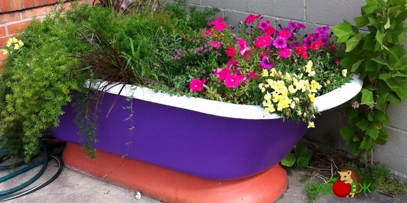 Куда использовать старую ванну в огороде?