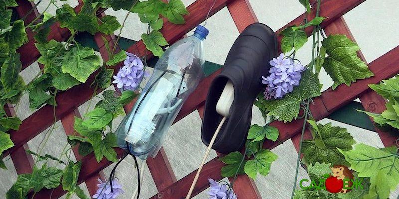 Использование пластиковых бутылок в саду и огороде: часть 3