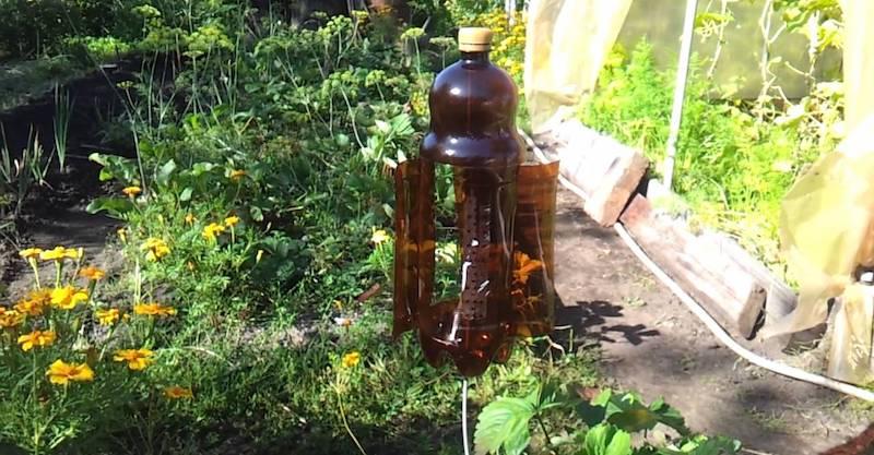 Отпугиватель из пластиковой бутылки
