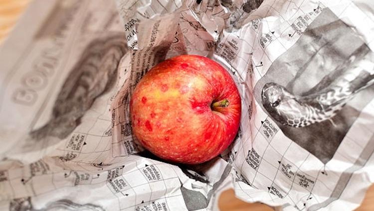 Упаковка яблок для хранения