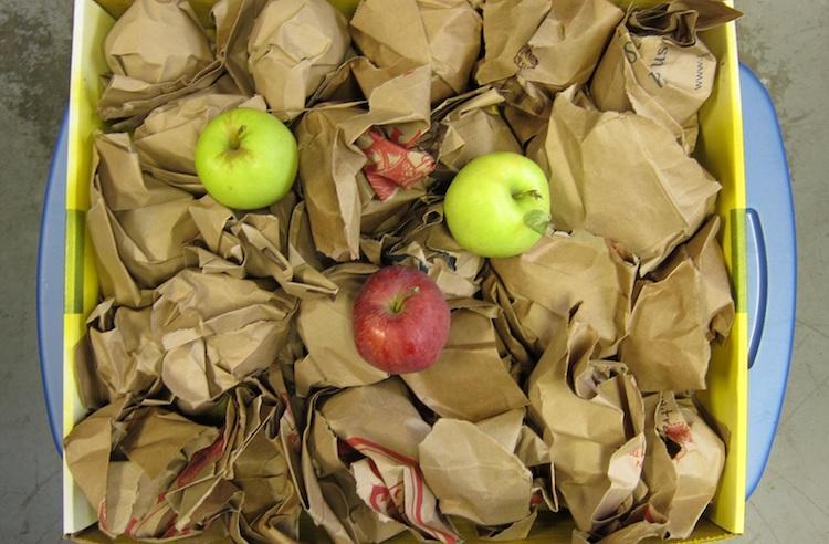 Хранение яблок в бумаге