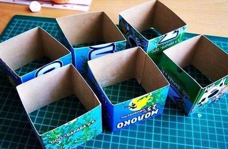 Разделители для хранения мелочевки из коробок